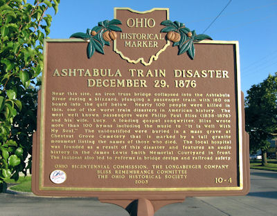 Ashtablula Train Disaster Historical Marker
