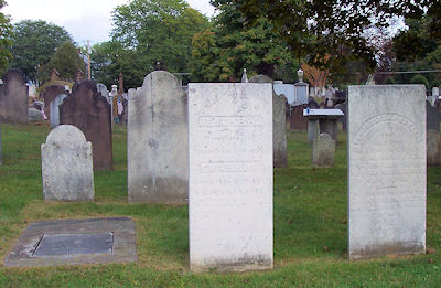 Brainerd, Jerusha and Jonathan Edwards grave monuments