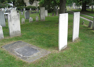 David Brainerd and Jerusha Edwards grave monuments, Jonathan Edwards cenotaph