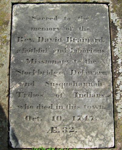 David Brainerd grave marker