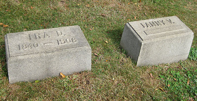 Ira and Fanny grave stones